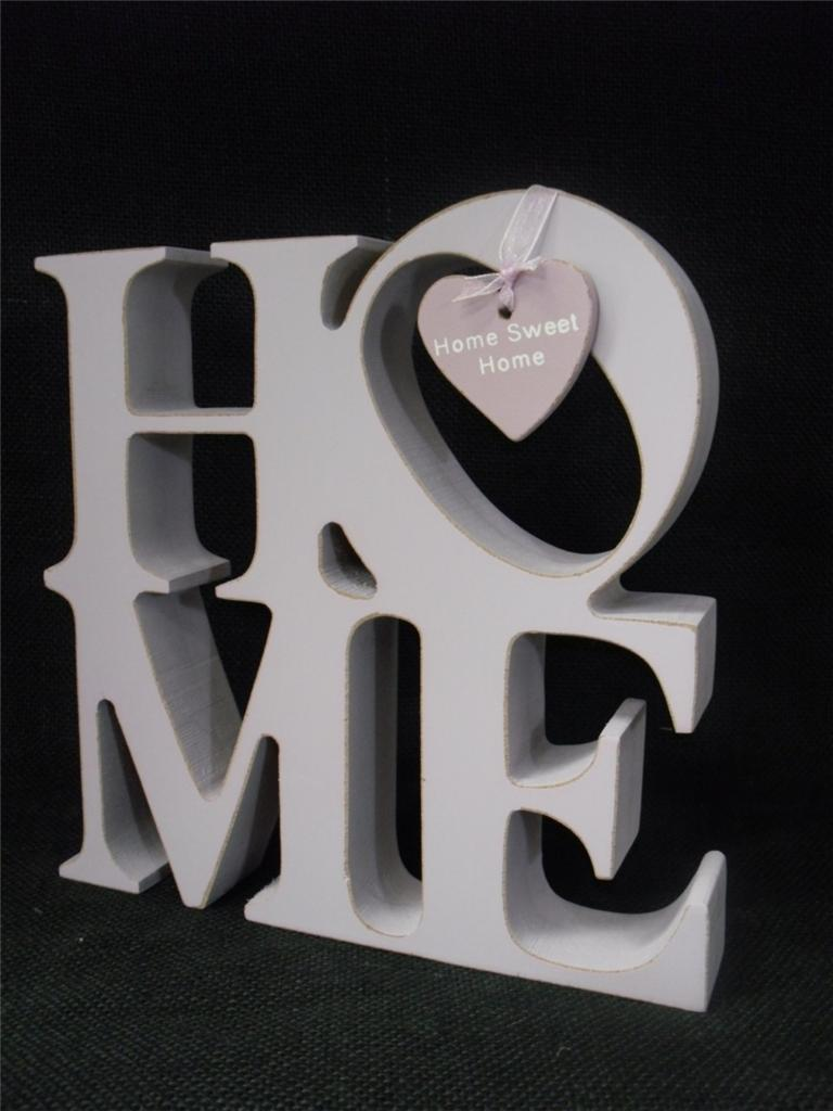 Lilac Love Home Wood Word Cube Block Letters Home Shabby Ornament Chic