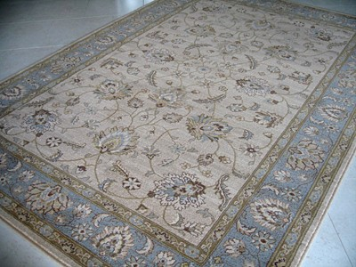 Brand New Perfect Traditional Beige Colour Wool Rug Measuring 1 8m X 2m 6 4 Ft This Has Been Made In Egypt And Is Based On An Afghan Ziegler Design