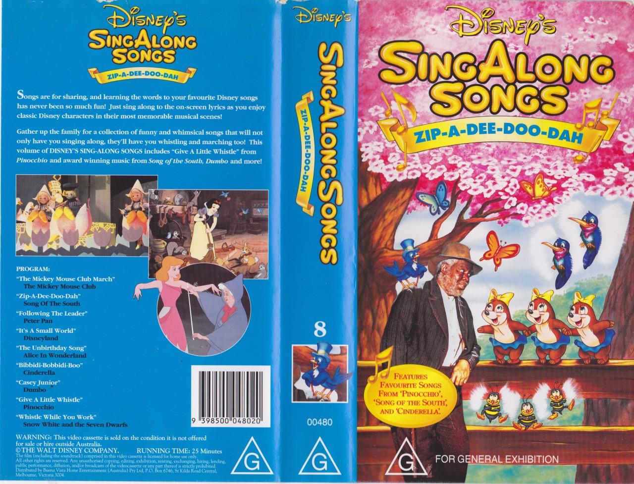 SING ALONG SONG Zip A Dee Doo Dah Number 8 Vhs Pal Video A Rare Find
