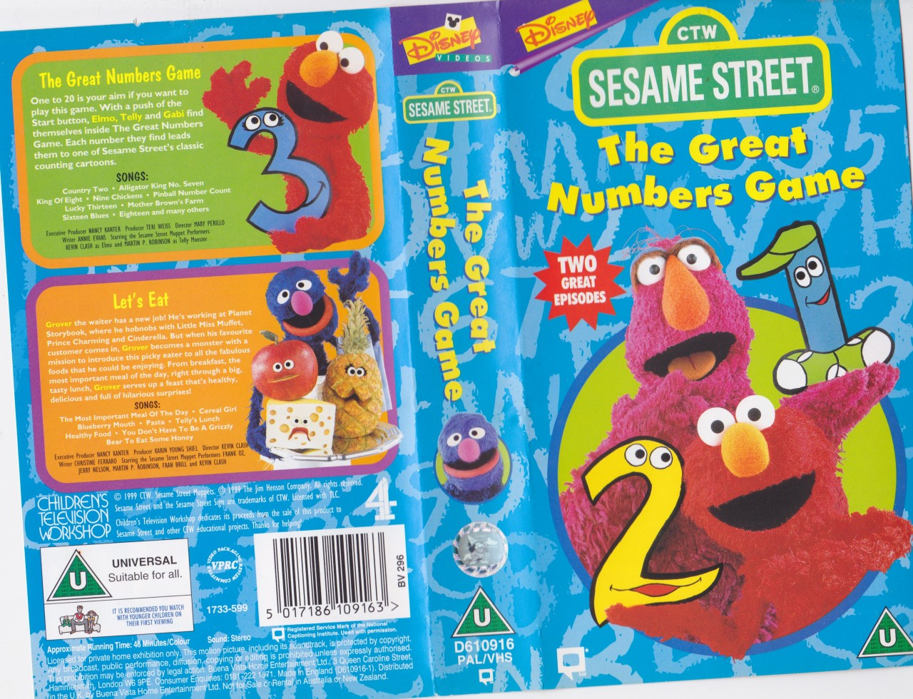 Sesame Street: The Great Numbers Game (DVD) : Sony Wonder ...
