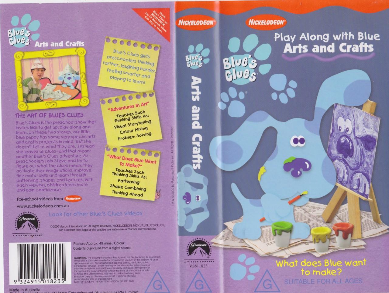 Blue Clues Arts Crafts Vhs