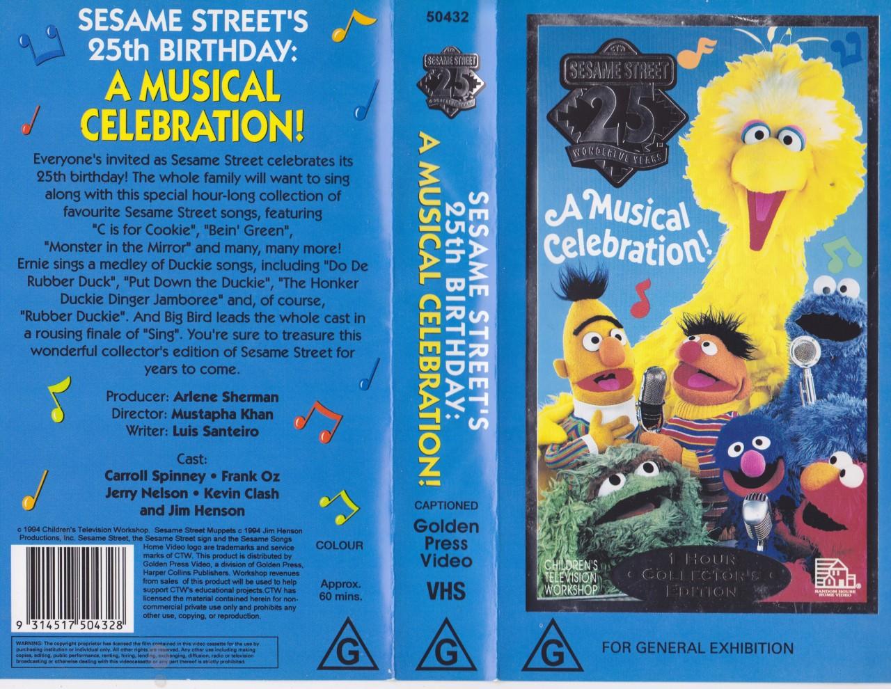 SESAME STREET ~25 WONDERFUL YEARS A MUSICAL CELEBRATION ...