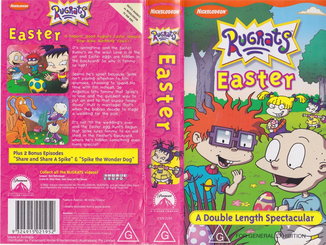 A Rugrats Easter VHS PAL Video A RARE Find on PopScreen