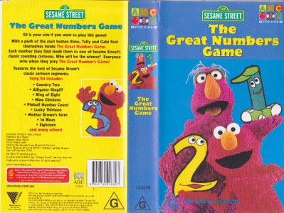 Amazon.com: Sesame Street - The Great Numbers Game [VHS ...