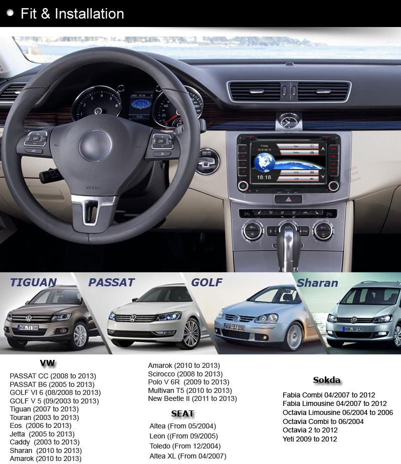 DVD GPS CD Player Sat Nav for VW PASSAT T5 Polo Sharan
