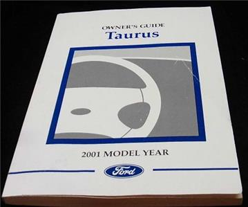 owners manual 2001 ford taurus