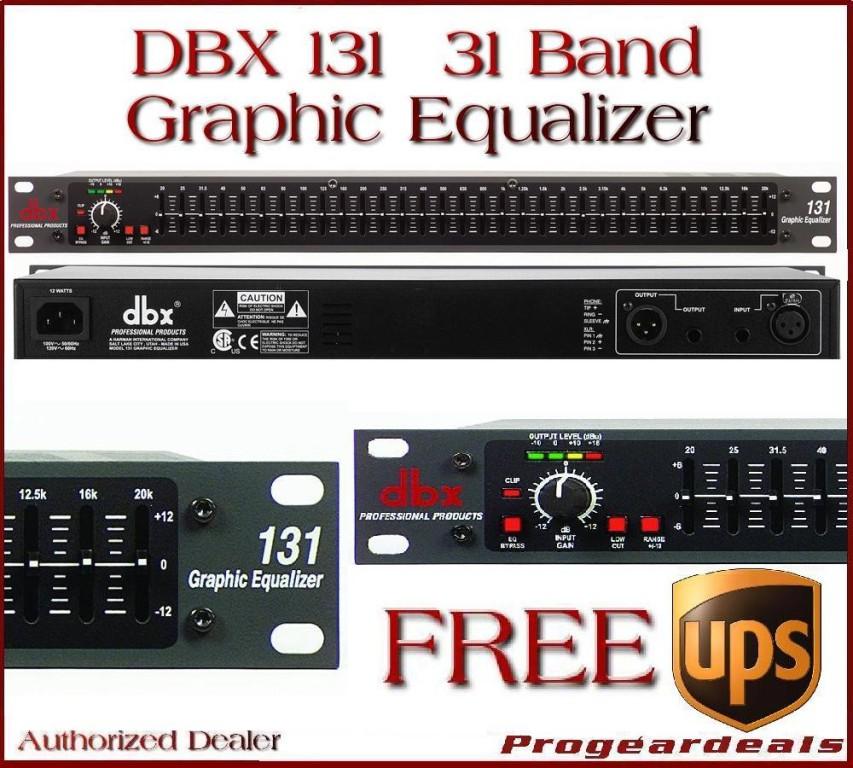 dbx 131 31 band eq rackmount equalizer single mono chan ebay. Black Bedroom Furniture Sets. Home Design Ideas