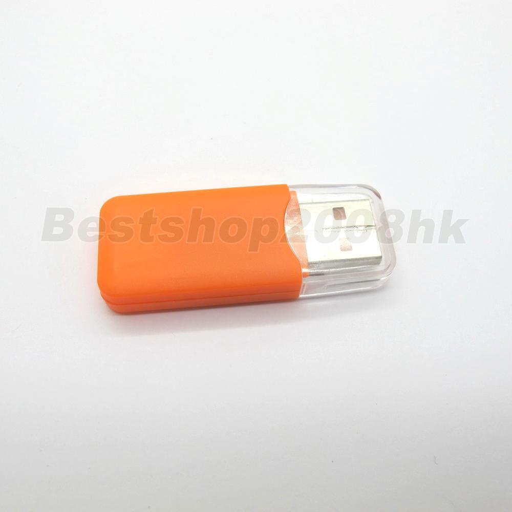 New USB 2 0 Orange Mini Flash TF Micro SD Memory Card Reader USB Adapter FX