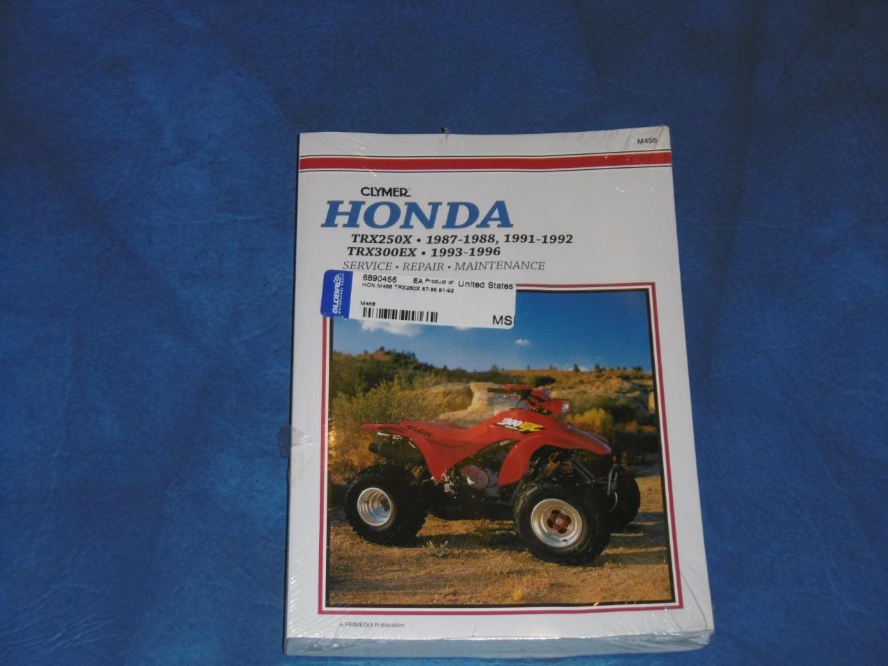 Image is loading Clymer-Honda-TRX-250X-amp-300EX-Service-Repair-