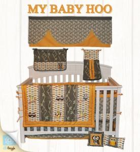 Wow Look Unique Gender Neutral 10pc Owl Baby Crib Bedding