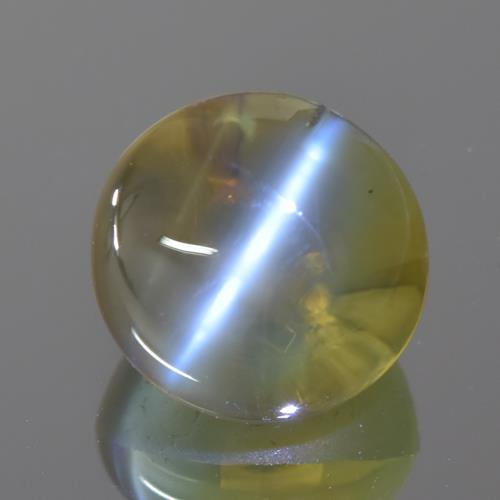 5 cts Natural Yellow white silver honey Color Oval Cabochon Chrysoberyl Cats Eye