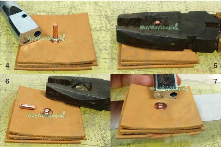 Leather Rivet Setter: Solid Copper Rivets Burrs Setter Tool