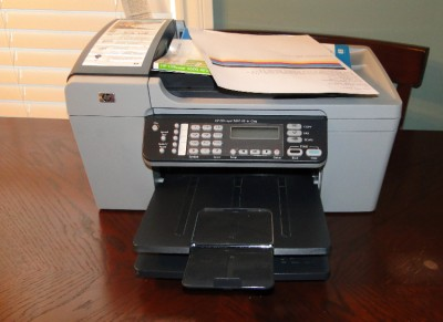 hp officejet 5610 all in one inkjet usb printer low page counts clean 829160964140 ebay. Black Bedroom Furniture Sets. Home Design Ideas