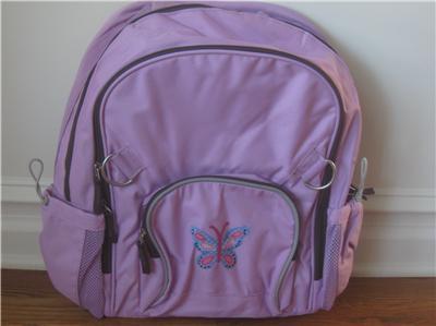 Pottery Barn Kids Fairfax Purple Butterfly Backpack Htf