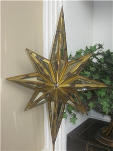 Pottery Barn Mirrored Star Tree Topper Christmas New