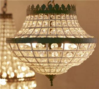Pottery Barn Dalila Beaded Crystal Chandelier Light New In