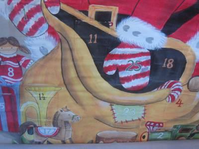 Pottery Barn Kids Painted Santa Advent Calendar Christmas