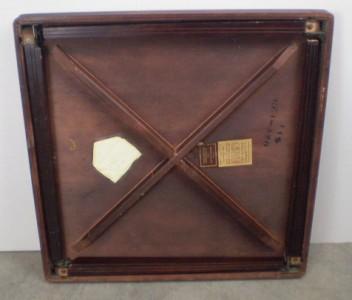 Vintage Castlewood Inlaid Mahogany Oak Wood Card Table