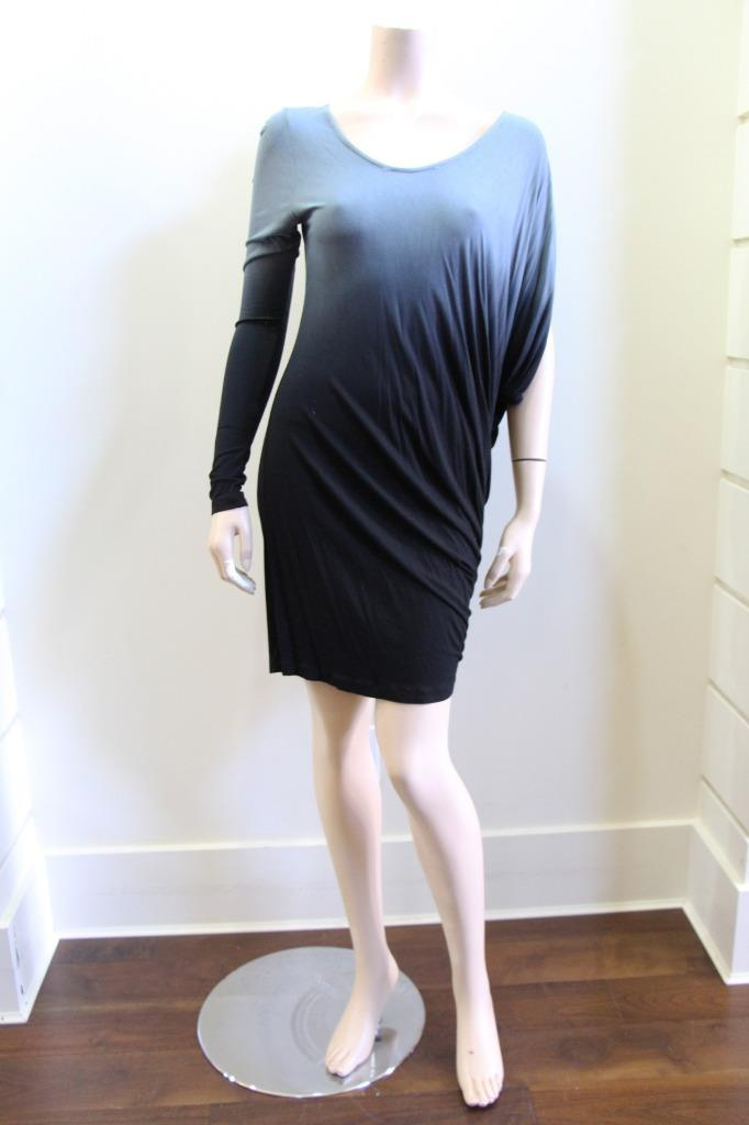 NWT Young Fabulous Broke Blk Grey Ombre Ombre Ombre One Sleeve Dress S 12290a