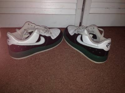 NIKE AIR FORCE 1 XXV '82 Shoes Black Red White 314192 162
