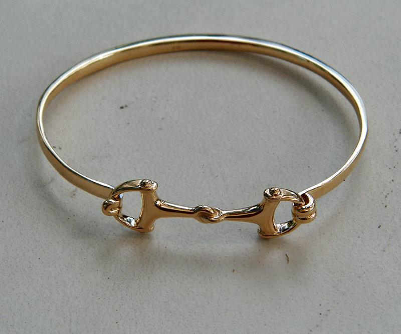 Women039s Bangle Bracelets: Beautiful Solid 14K Gold Small Women And Men's Horse