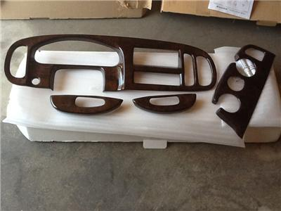 1997 01 DODGE RAM VAN ENGLISH SANDAL BURLWOOD FINISH DASH KIT