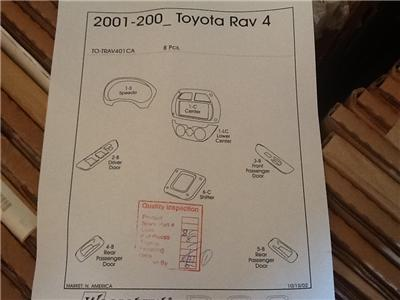 2001 02 Toyota RAV4 Black Cherry Wood Finish Dash Kit