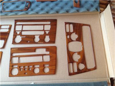 2001 04 Volvo S60 Bubinga Wood Finish Dash Kit