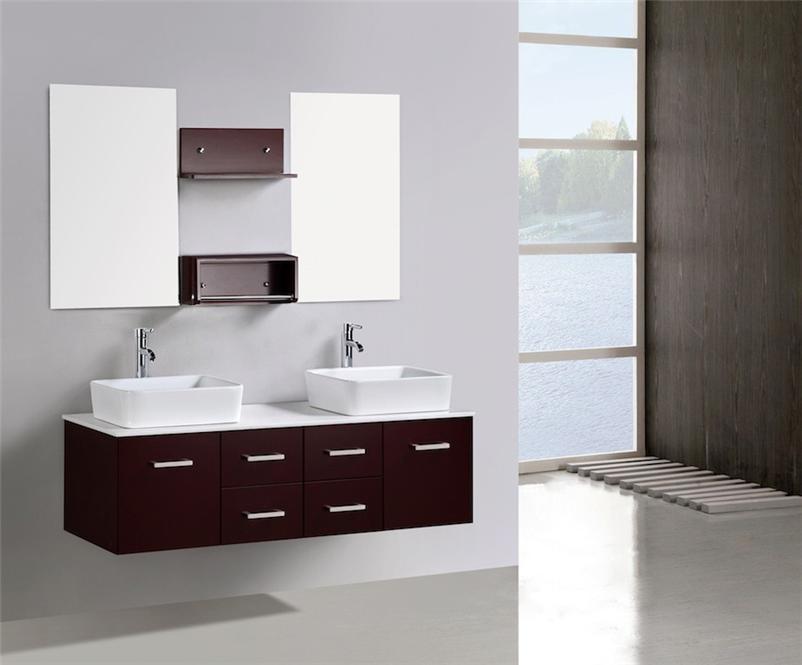 Bathroom vanity unit stone top double cabinet 1500 counter - Marble top bathroom vanity units ...