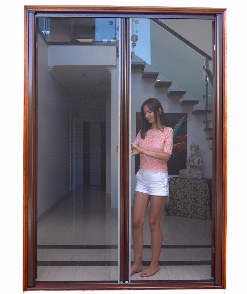 Retractable Door Fly Screen For French Doors 2300w X 2400h