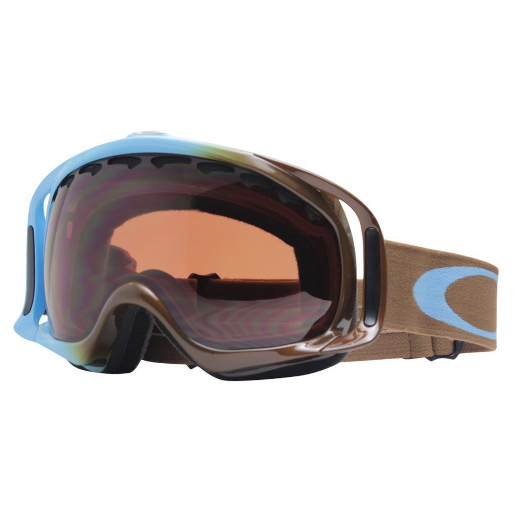 b9968627cf40e Details about Oakley 02-844 CROWBAR Pale Blue Brown Frame w  VR28 Lens Mens Snow  Ski Goggles .