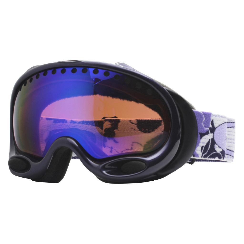 eb028ffa6c6 Details about Oakley 25-408 A FRAME Amethyst w  Blue Iridium Lens Womens  Snow Ski Goggles .