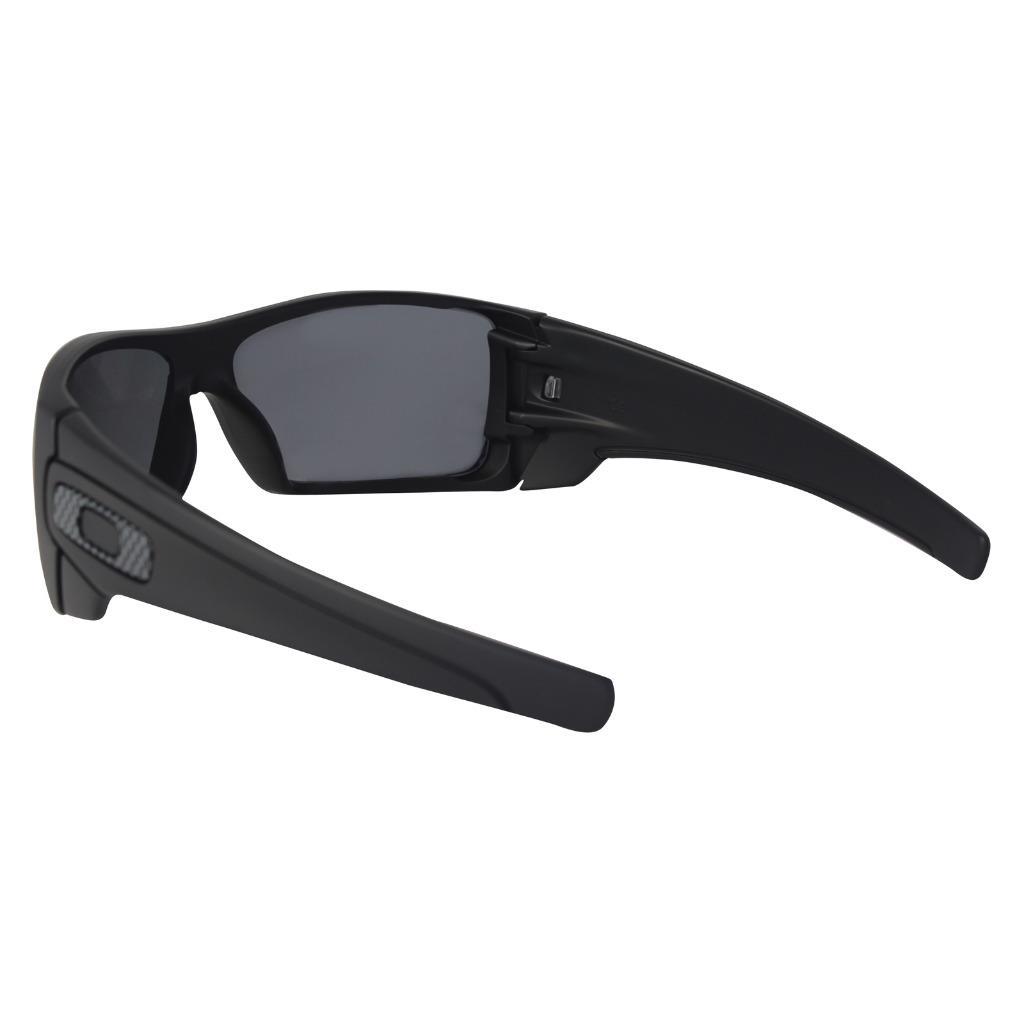 3dd90aaa54a Oakley OO 9101-04 BATWOLF POLARIZED Matte Black Frame Grey Lens Mens ...