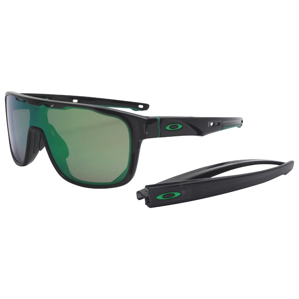 Details about Oakley OO 9387-0331 CROSSRANGE SHIELD Black Ink Prizm Jade  Iridium Sunglasses 77e93bc43b