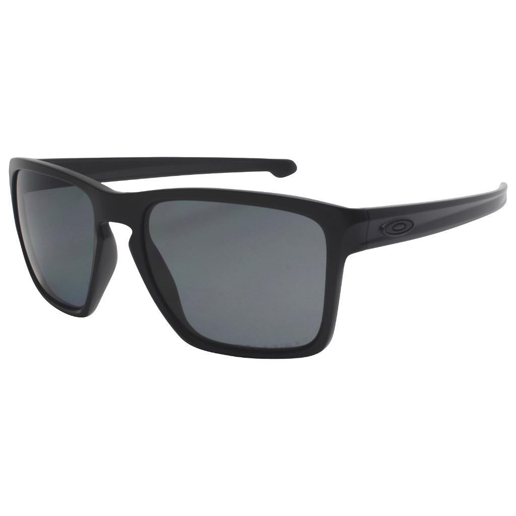 a760cb7cb1 Details about Oakley OO 9341-01 POLARIZED SLIVER XL Matte Black Grey Lens  Mens Sunglasses