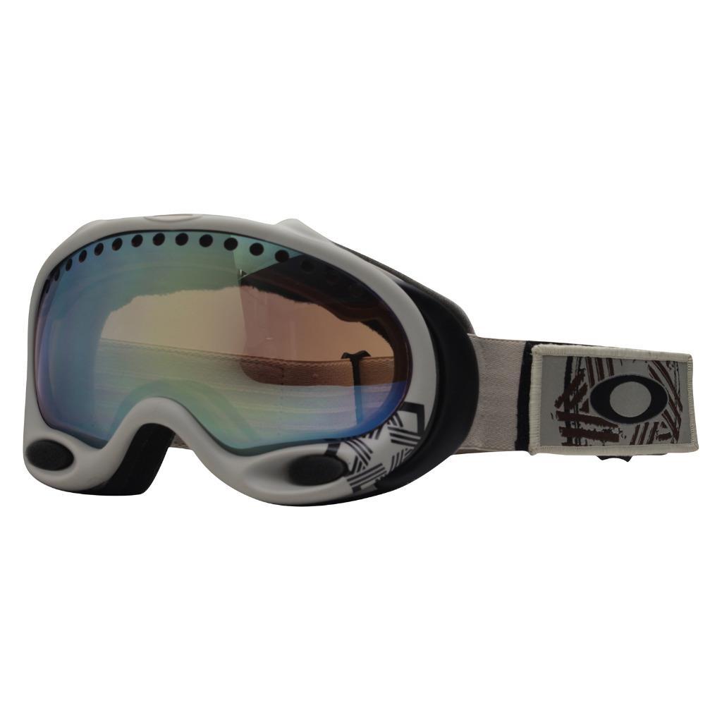 b365aa7cb38 Details about Oakley 25-236 A FRAME Khaki w  VR50 Emerald Iridium Lens Mens  Snow Ski Goggles .