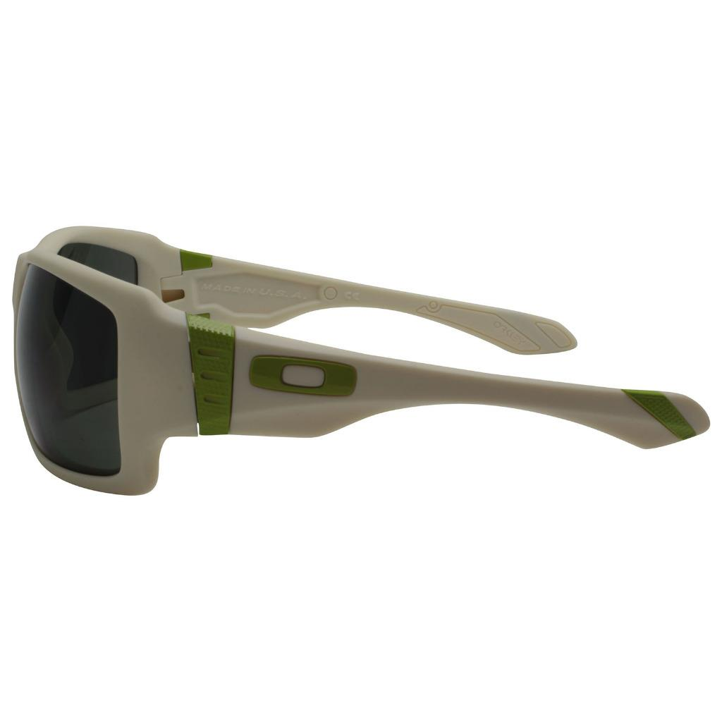 5a9e6a15c85 Oakley OO 9173-07 BIG TACO Matte Bone Dark Grey Mens Sunglasses ...
