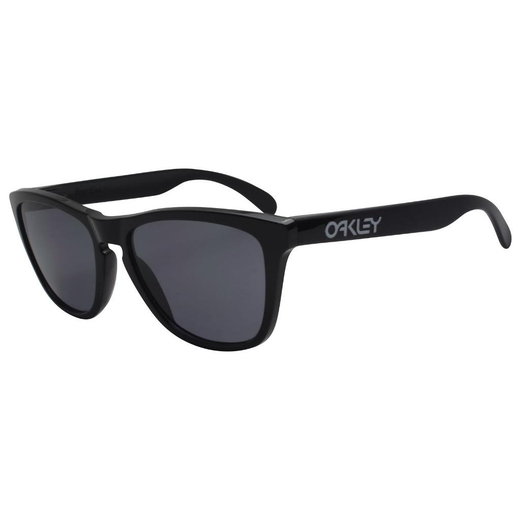 1bf3d7f20e Details about Oakley 24-306 FROGSKINS Polished Black with Grey Lens Mens  Unisex Sunglasses .