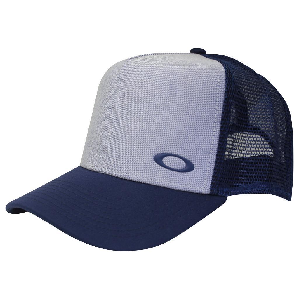 d57f5cd5210 Details about Oakley FLIP OXFORD Adjustable Trucker Cap Navy Mens Boys  Snapback Baseball Hat