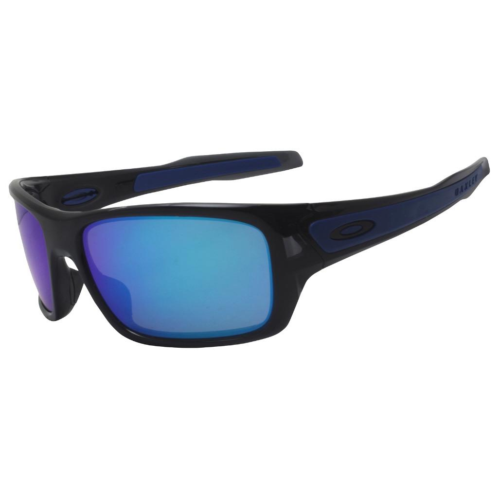 f1ad89d5548a9 Details about Oakley OO 9263-05 TURBINE Black Ink with Sapphire Iridium Lens  Mens Sunglasses