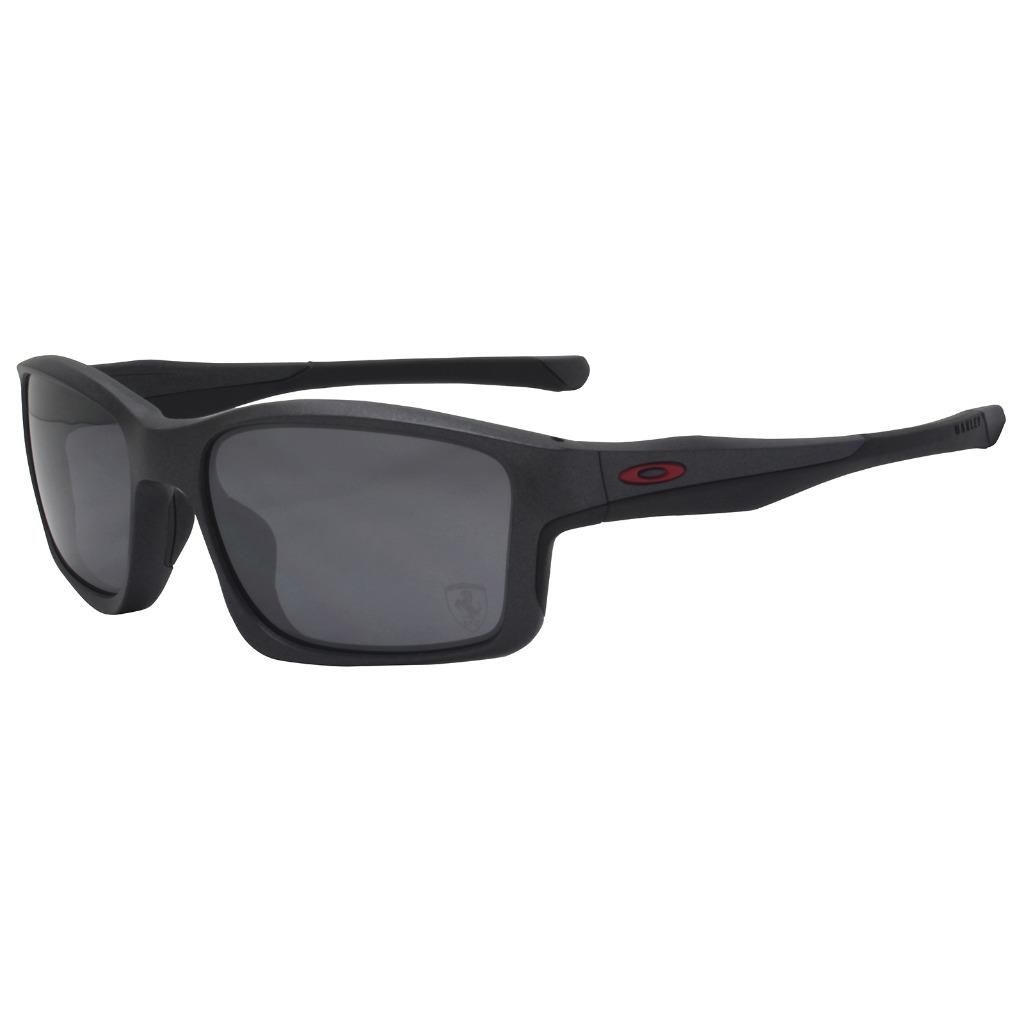 cf2bcc9823e Details about Oakley OO 9247-13 FERRARI CHAINLINK Matte Steel Black Iridium  Mens Sunglasses .