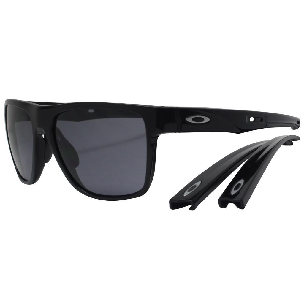c3f79a5d9 Details about Oakley OO 9360-0158 CROSSRANGE XL Polished Black w/ Grey Lens  Mens Sunglasses