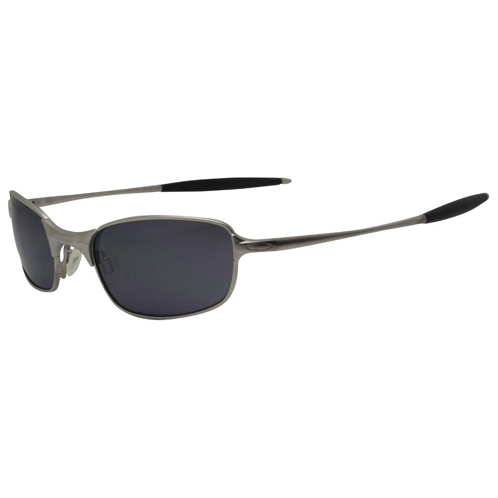 f8395df77f Details about Oakley Custom SQUARE WIRE 2.1 Silver Frame w  Black Iridium Lens  Mens Sunglasses