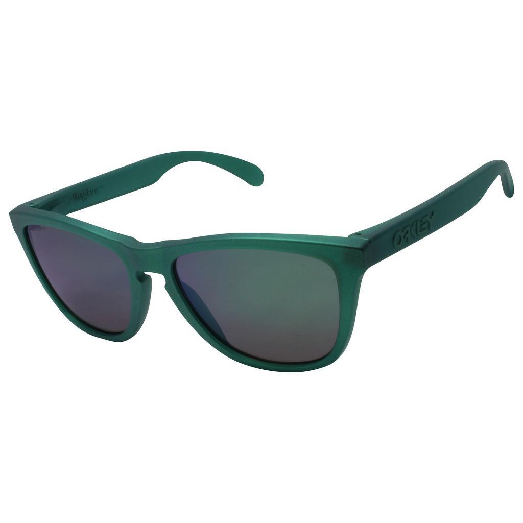da5a0fdcae Details about Oakley OO 9013-C655 FROGSKINS Gamma Green PRIZM Jade Iridium  Mens Sunglasses