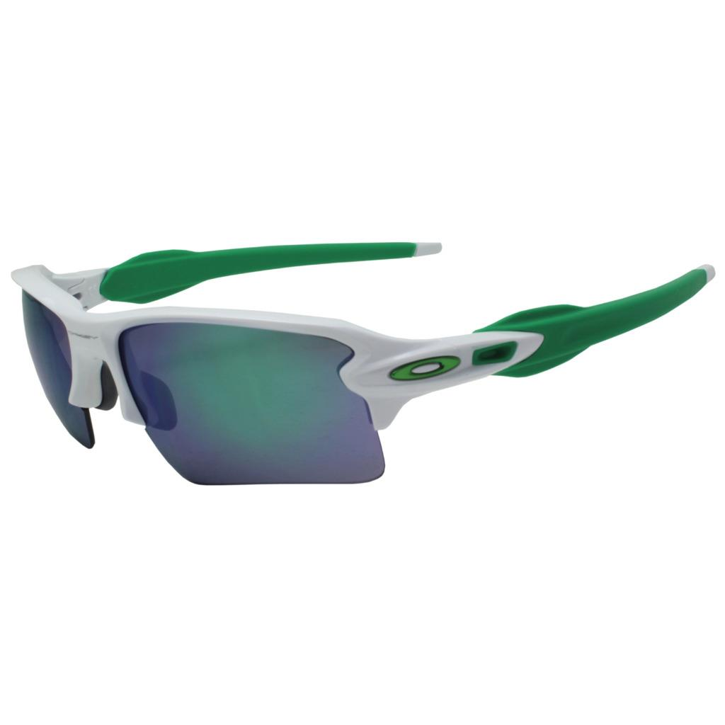 e24e0c01ee3 Details about Oakley OO 9188-6359 FLAK 2.0 XL Polished White w  Jade  Iridium Sports Sunglasses