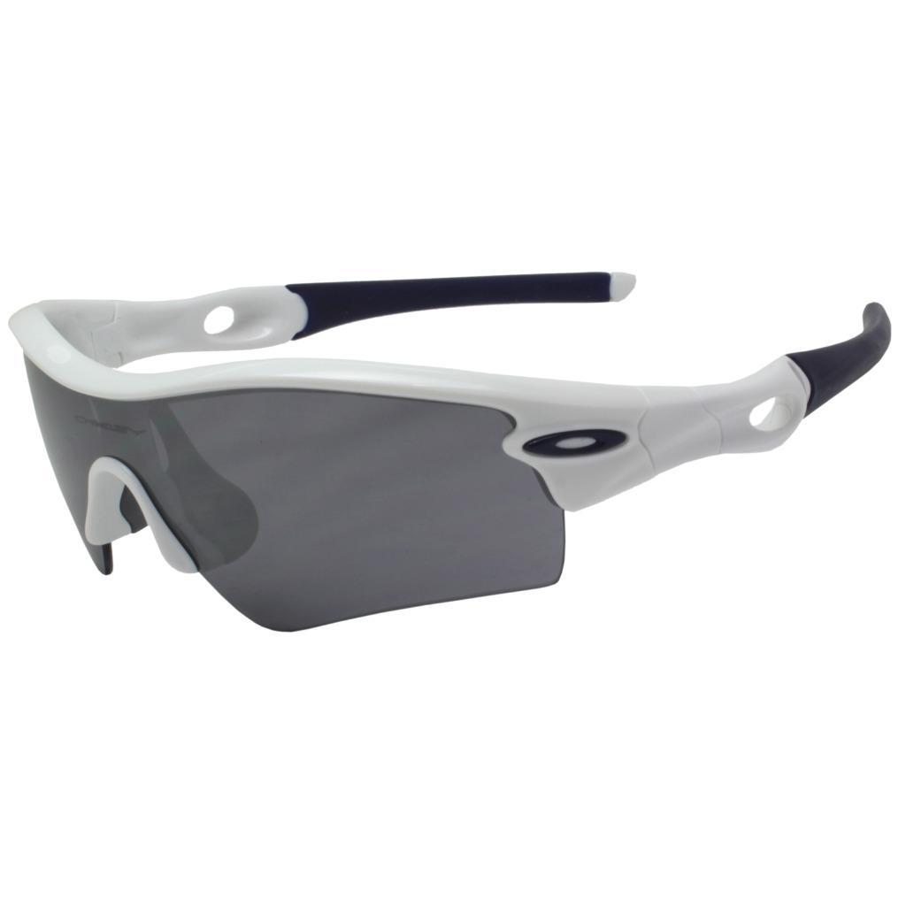 93755505ab Details about Oakley 09-758 RADAR PATH Polished White Black Iridium Mens  Sports Sunglasses .