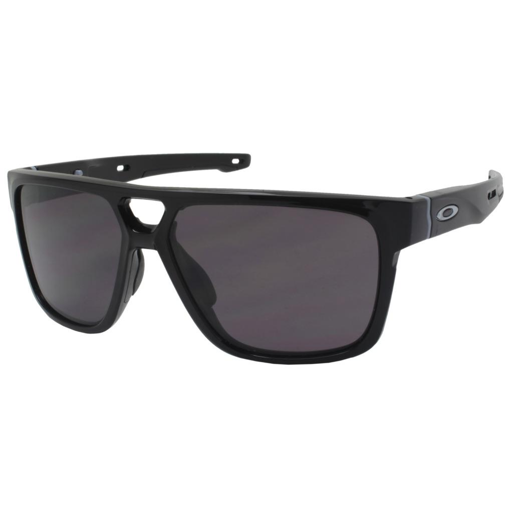 Details about Oakley OO 9382-01 CROSSRANGE PATCH Polished Black w  Warm  Grey Mens Sunglasses 0ebc52a7e9