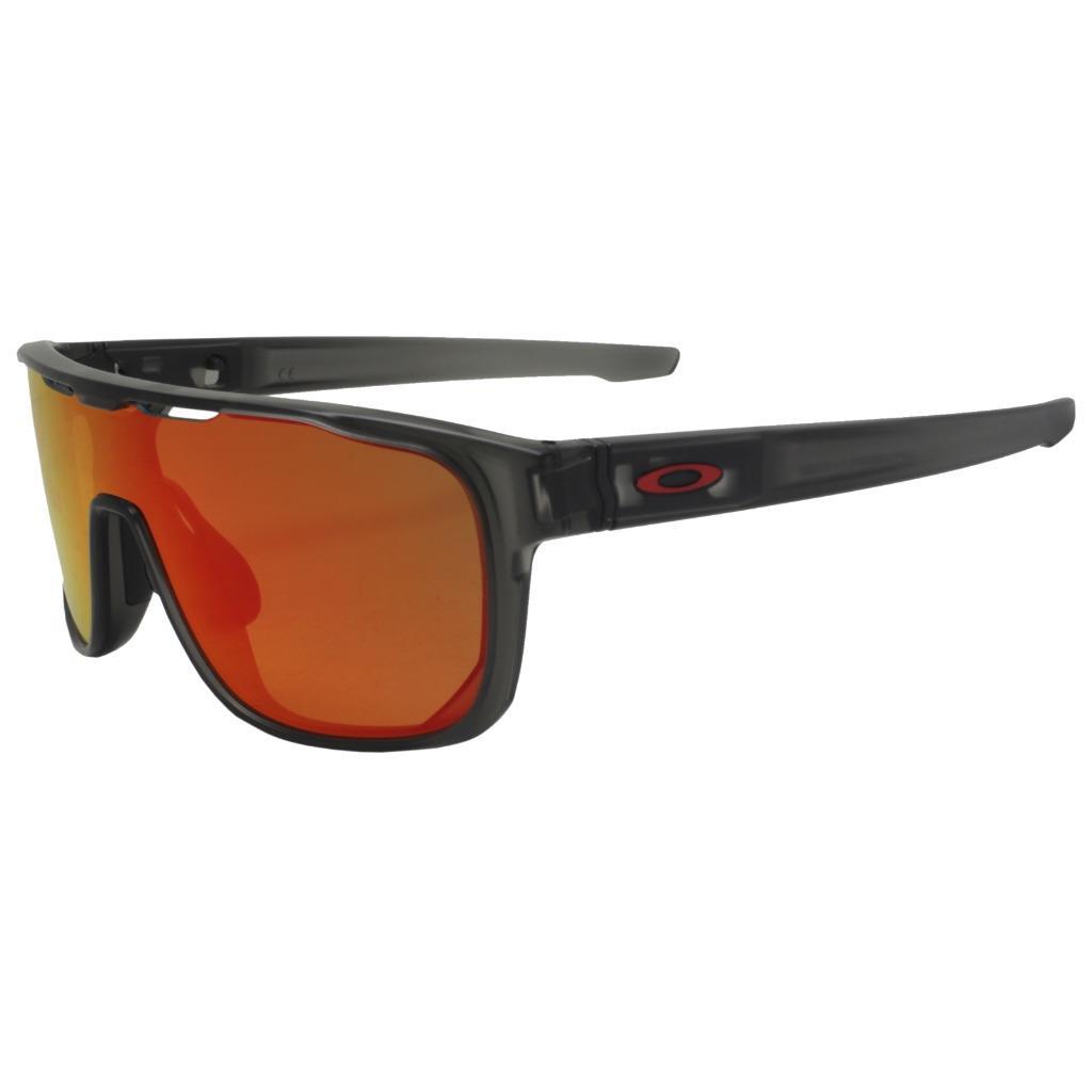 26ae71877f Oakley OO 9387-0431 CROSSRANGE SHIELD Matte Grey Smoke Prizm Ruby ...