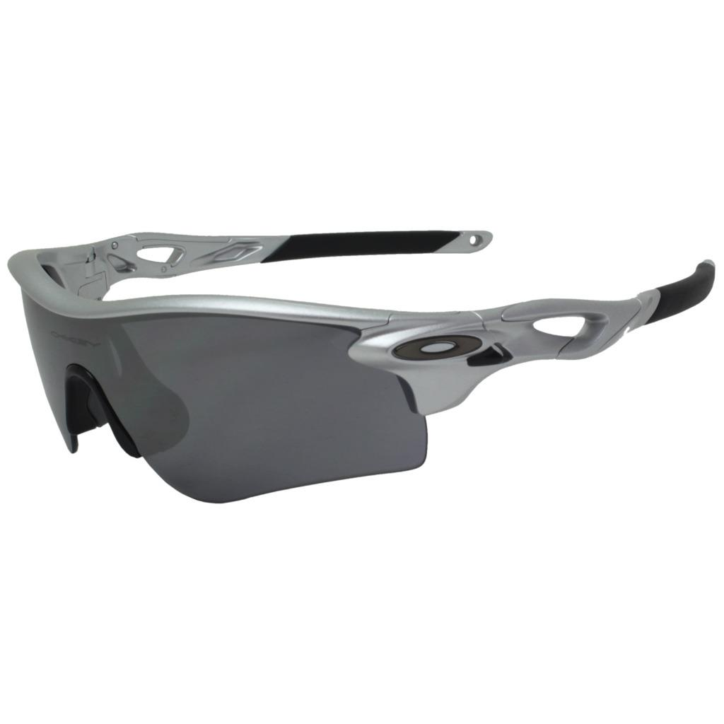 fd9643e00f4 Details about Oakley Custom RADARLOCK PATH Silver Frame Black Iridium Mens  Sports Sunglasses .