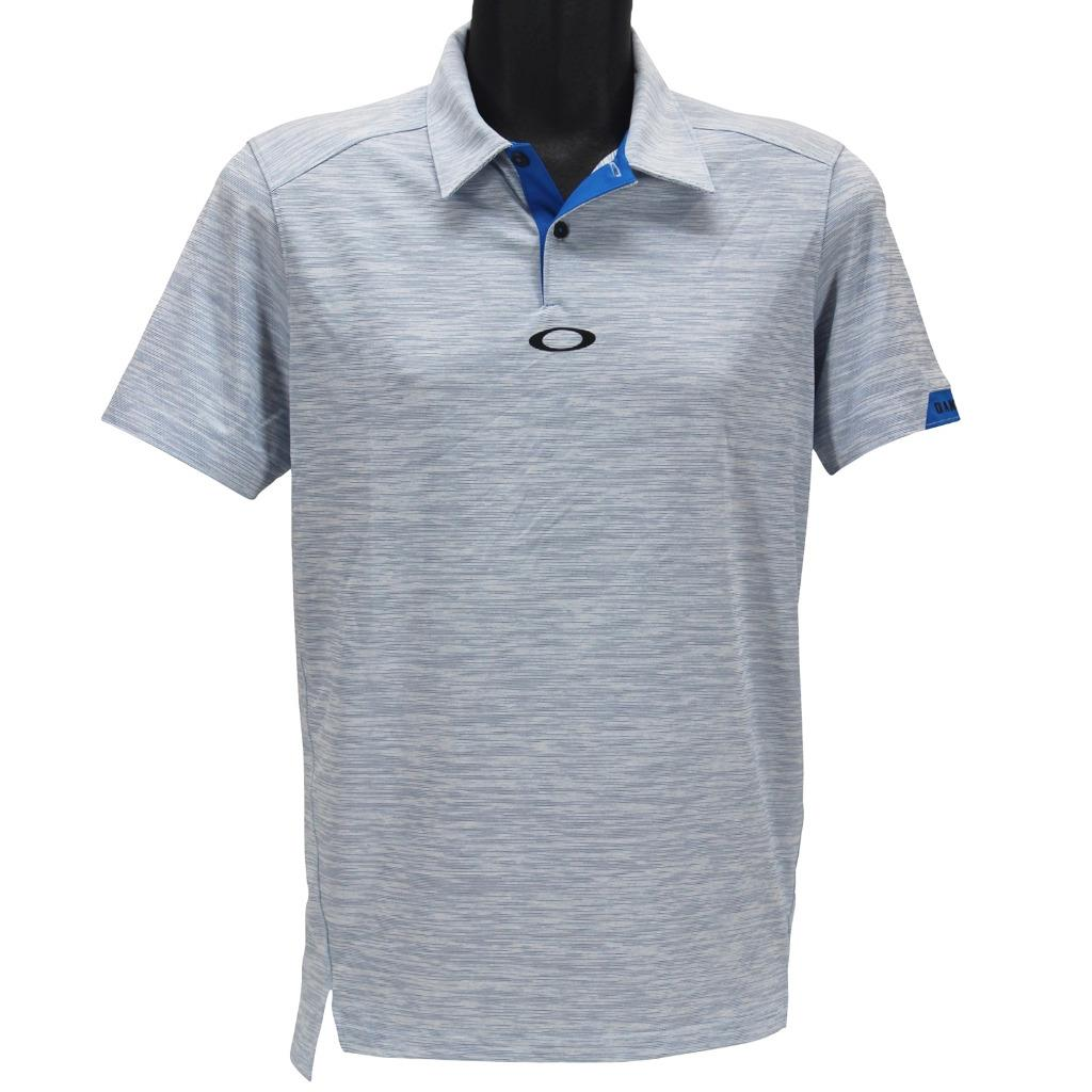 d90fb5d4ea Details about Oakley Gravity Polo Mens Size S Small Ozone Blue Golf  Tailored Fit Tee Shirt